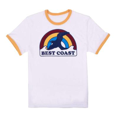 Best Coast 'Rainbow Bird' Unisex Ringer T-Shirt