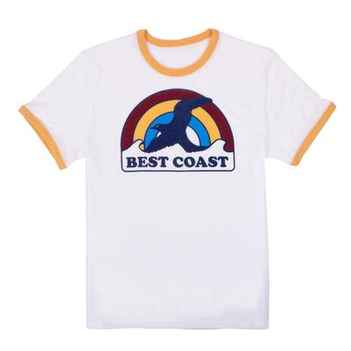 Best Coast 'Rainbow Bird' Unisex Ringer T-Shirt