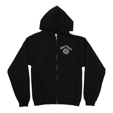 Best Coast 'Crest' Zip-Up Hoodie
