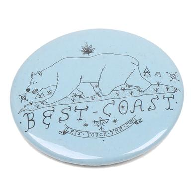 Best Coast 'Lets Touch The Sun' Button - Blue