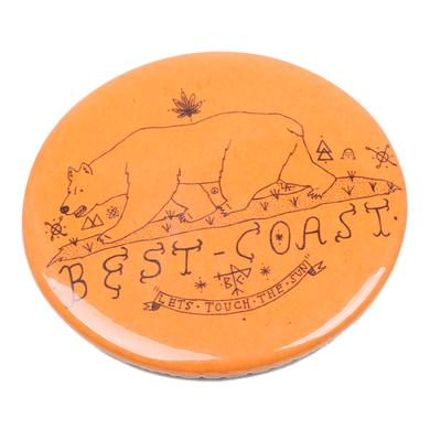 Best Coast 'Lets Touch The Sun' Button - Orange