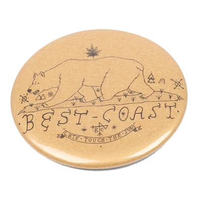 Best Coast 'Lets Touch The Sun' Button - Gold