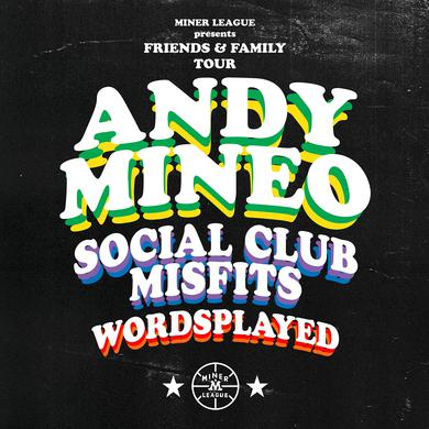 Andy Mineo OCT 25 - Columbia, SC - Miner League Presents - Friends & Family Tour VIP