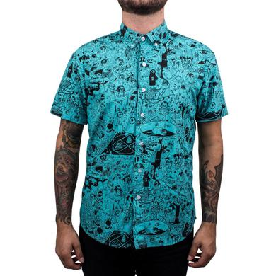 Father John Misty PC Short Sleeve Unisex Oxford Button Up Shirt - Teal