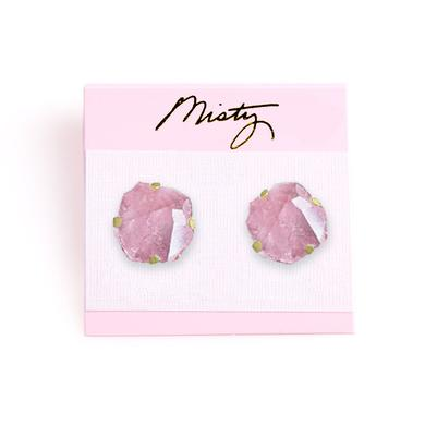 "Father John Misty ""Rose Quartz Crystal Earrings"" by Misty"