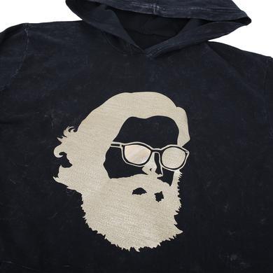 Father John Misty 'Misty Face' Tech Wear Hoodie - Black w/ Gold Shimmer