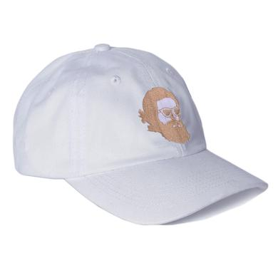 Father John Misty 'Misty Face' Embroidered Dad Hat - White