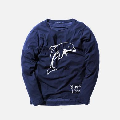 Young Dolph - Dolphin Crewneck Blue