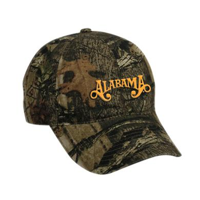 Alabama Camo Ballcap with Orange Logo