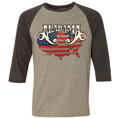 Alabama Heather Grey Raglan Tee
