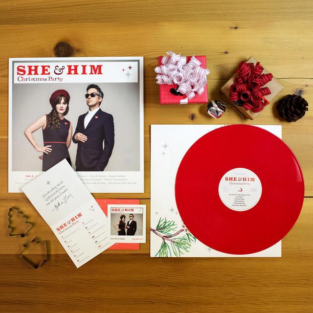 "She & Him 'Christmas Party' 12"" Vinyl LP"