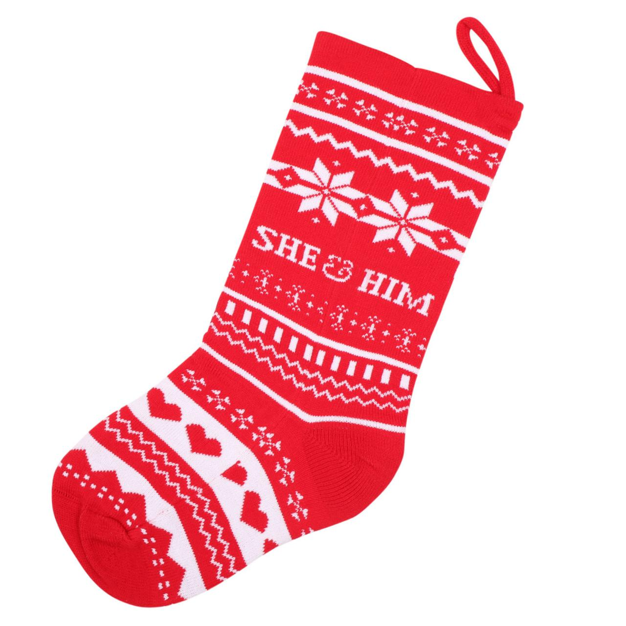 She him knit christmas stocking