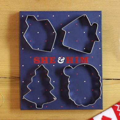 She & Him 4 Piece Cookie Cutter Set