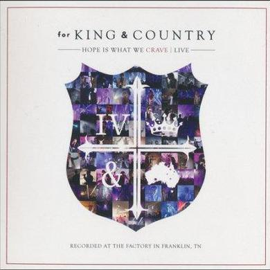 for KING & COUNTRY Hope Is What We Crave - Live CD/DVD