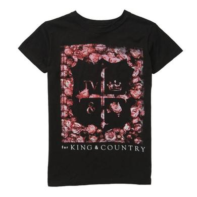 for KING & COUNTRY FLOWER CREST T-SHIRT