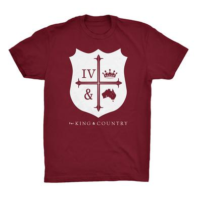 for KING & COUNTRY RED CREST T-SHIRT
