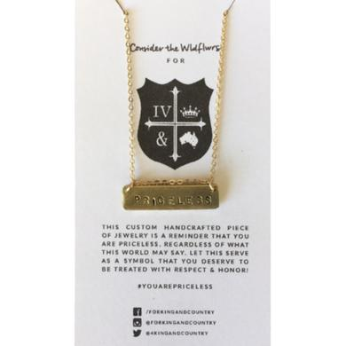 for KING & COUNTRY Priceless Bar Necklace