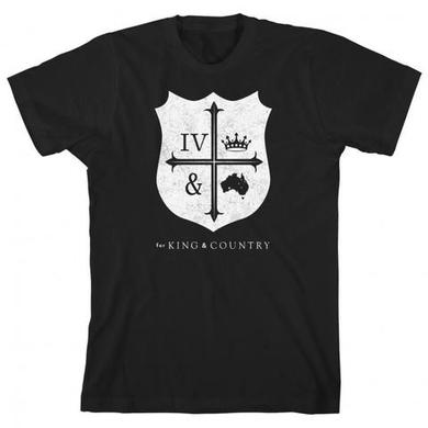 for KING & COUNTRY BLACK CREST T-SHIRT