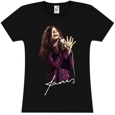 Janis Joplin Sing Signature Girlie T-Shirt
