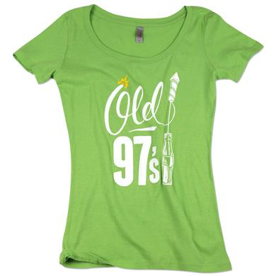 Old 97s Bottle Rocket Ladies Scoop Neck T-Shirt - Apple Green
