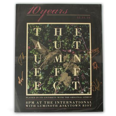 10 Years Autographed Autumn Effect Reunion Poster