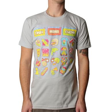 Anamanaguchi Sticker Animation Grey Tee
