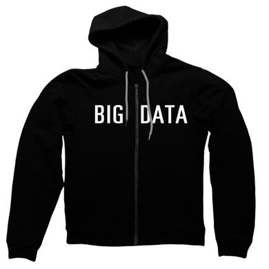 Big Data White Logo Zip Hoodie