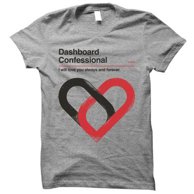 Dashboard Confessional Always And Forever Grey Tee