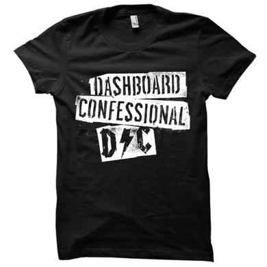 Dashboard Confessional Scraps Black Tee