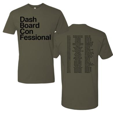 Dashboard Confessional 2017 Olive Tour Tee