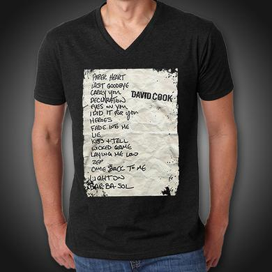 David Cook Set List Tee
