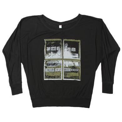 David Cook Broken Windows Off The Shoulder Crew Neck