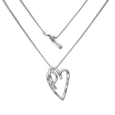 Paul McCartney Pm Heart Necklace