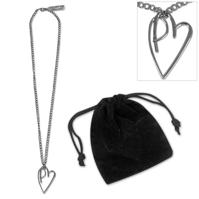 Paul McCartney PM Heart Necklace