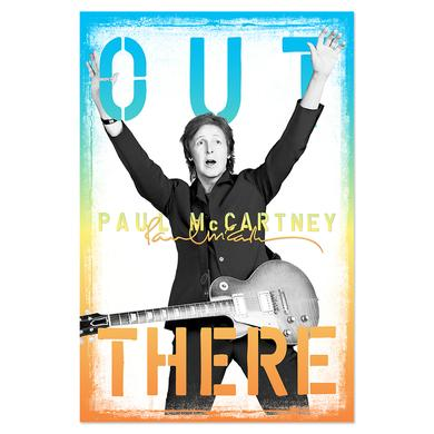 Paul McCartney Out There Pasted Poster