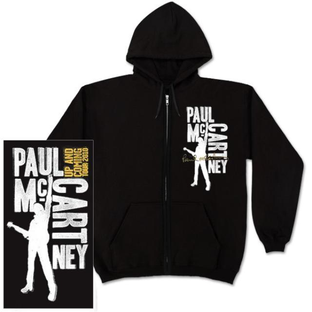 Paul McCartney Type Blocks Black Zip Hoodie