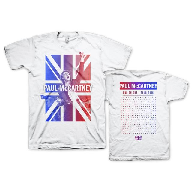 Paul Mccartney Cheers White Dateback Tee