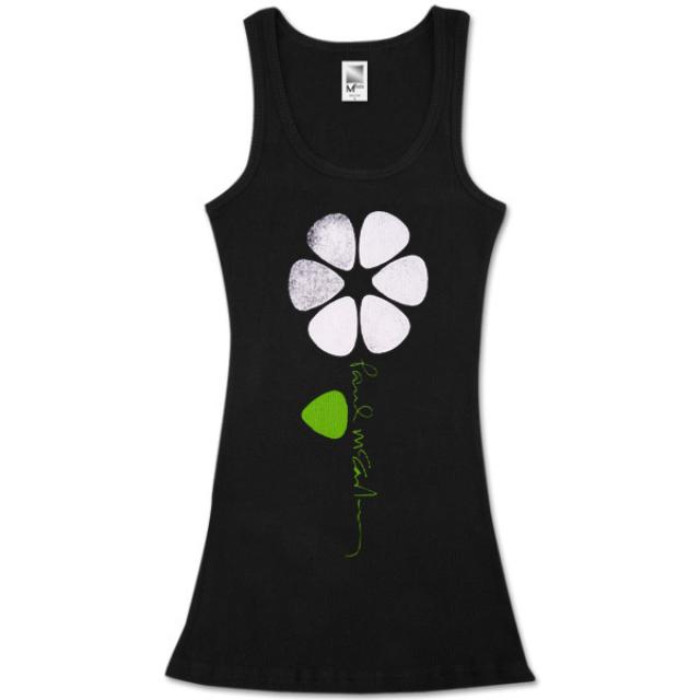 Paul McCartney Picked Flower Black Tank