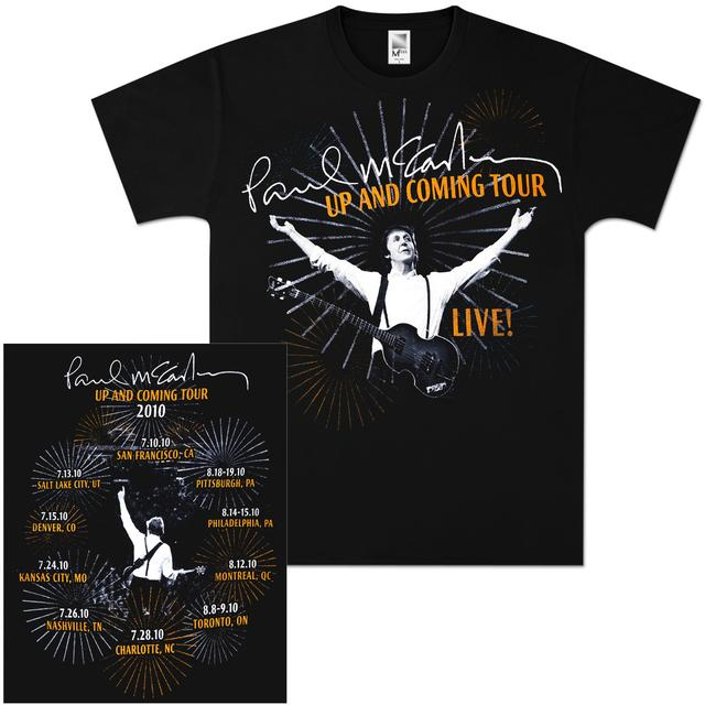 Paul McCartney Live Signature Fireworks T-Shirt