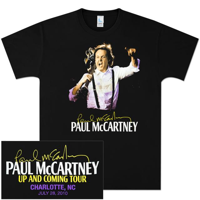 Paul McCartney Up and Coming Event T-Shirt - Charlotte
