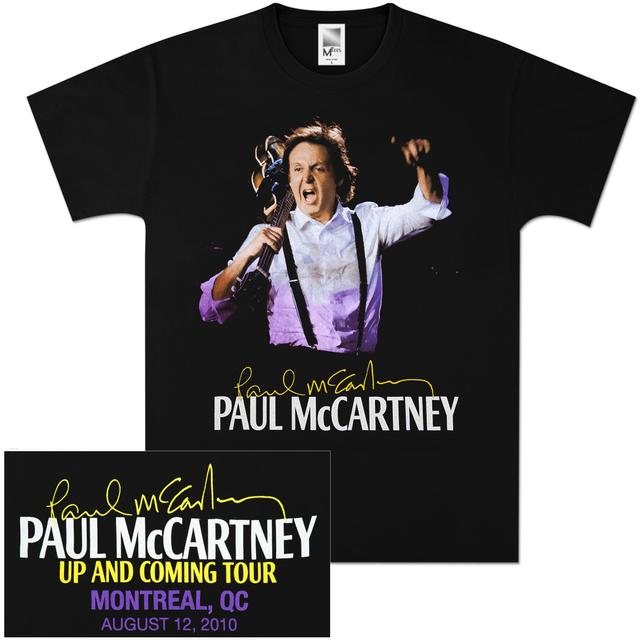 Paul McCartney Up and Coming Event T-Shirt - Montreal