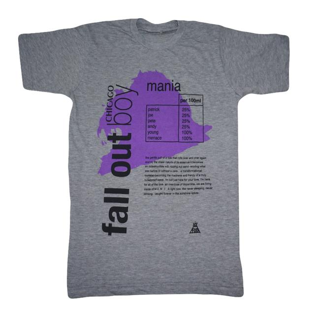 Fall Out Boy Chicago Exclusive Grey Vitamin Water Tee
