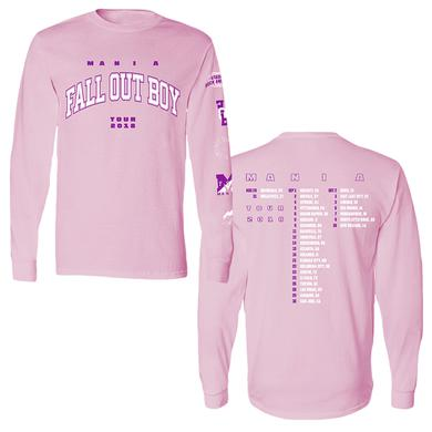 Fall Out Boy Pink Long Sleeve Tee