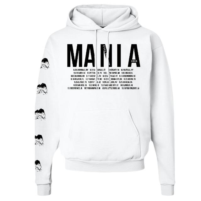 Fall Out Boy White 2018 MANIA Tour Hoodie