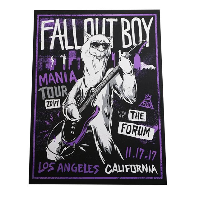 Fall Out Boy Live At The Forum Poster
