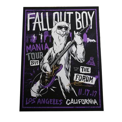 Fall Out Boy Live At The Forum Poster SIGNED