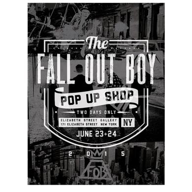 Fall Out Boy NY Pop Up Shop Lithograph Poster