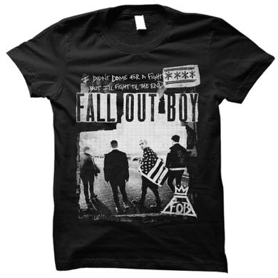 Fall Out Boy Zine Photo Black Tee