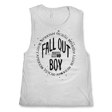 Fall Out Boy Ladies Circle Logo Tank Top