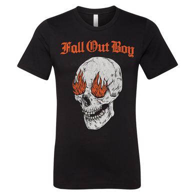 Fall Out Boy Fire Skull Tee